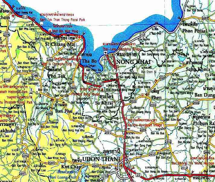 Nong Khai Thailand Map.Mut Mee Getting Here To Nong Khai